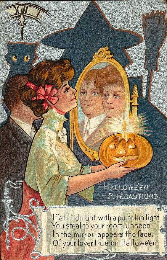 Старинные открытки в честь Хэллоуина - 07