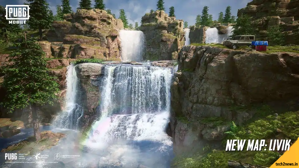 Waterfall in Pubg mobile