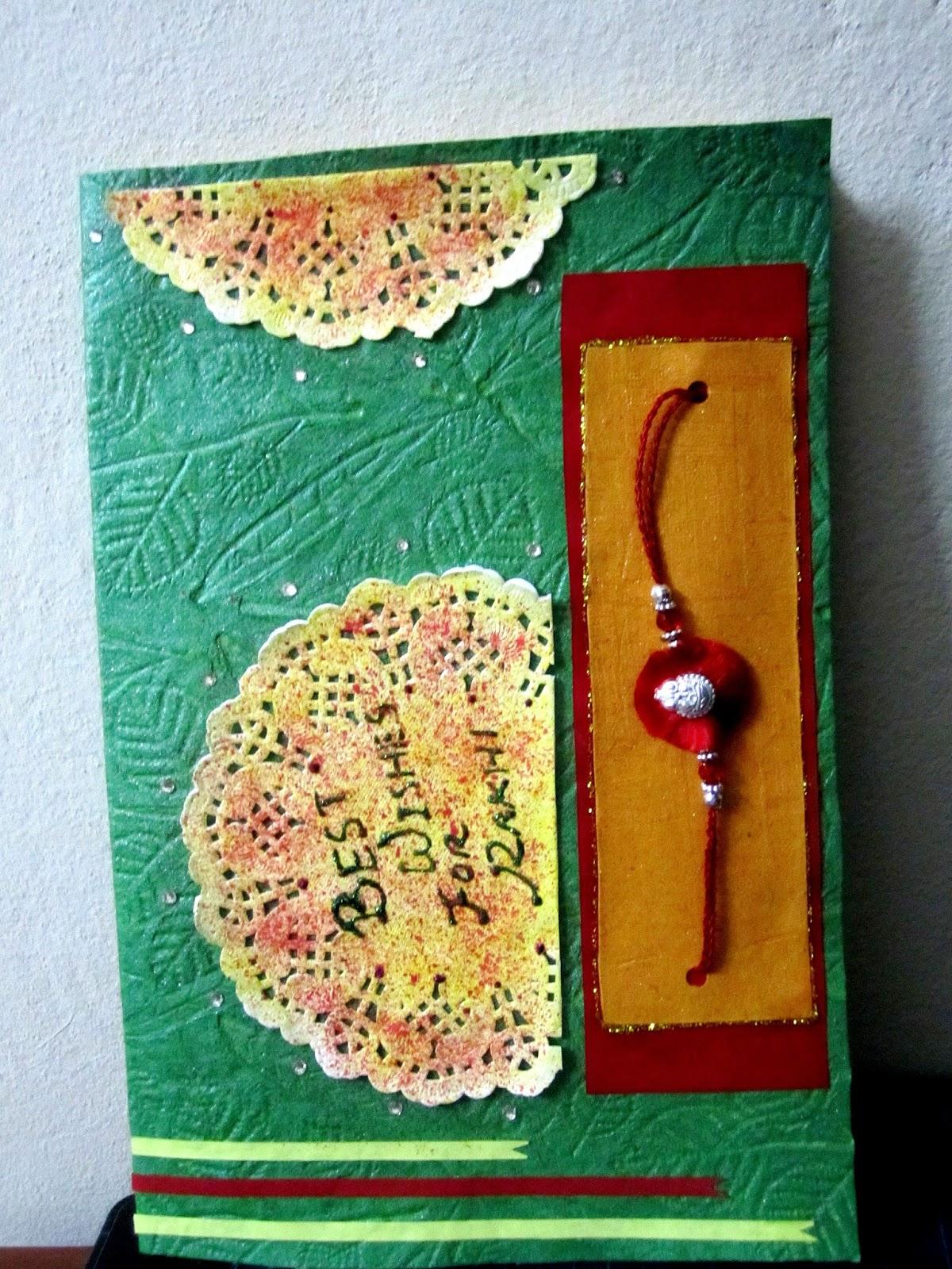 """the world"" handmade rakhi cards"