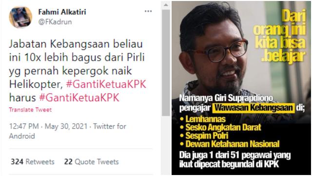 Tagar <i>#GantiKetuaKPK</i> Ramai di Twitter, Netizen Desak Firli Diganti