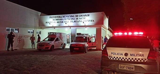 Homem sofre acidente de moto no bairro São José em Grossos
