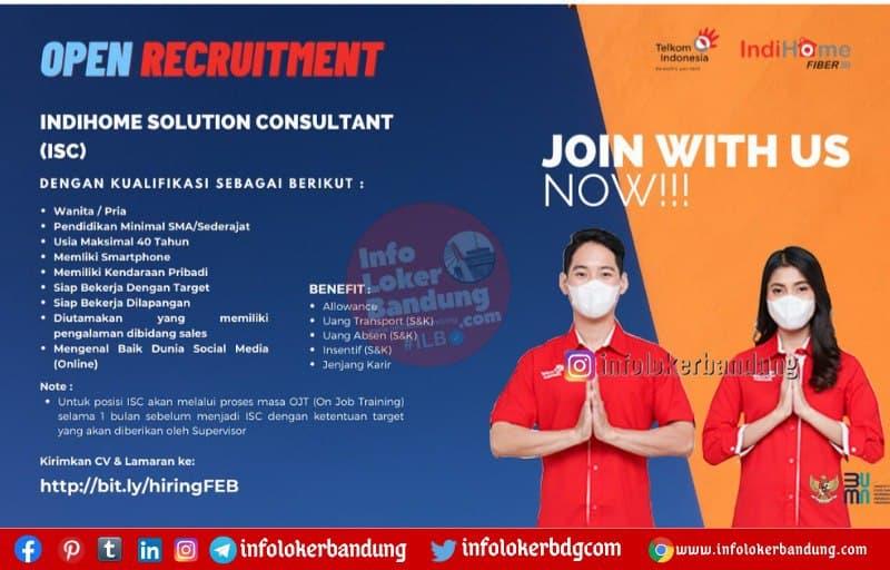 Lowongan Kerja Indihome Solution Consultant Bandung Maret 2021