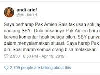 Andi Arief ke Amien Rais: Jangan Sok Jago Nantang Pak SBY