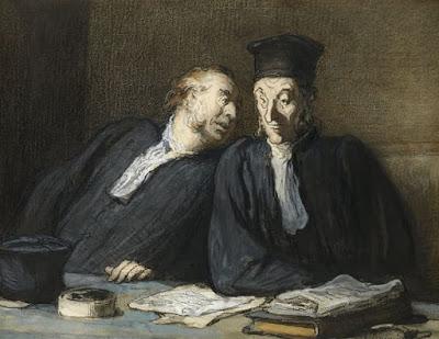 Honoré Daumier - Dos abogados conversando