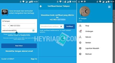 Cara Buat Akun BBM di Android Dengan Nomor Telpon