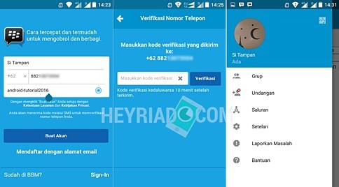 Dimulai dari update perangkat lunak BBM versi  Cara Membuat kamin BBM di Android Dengan Nomor Telepon