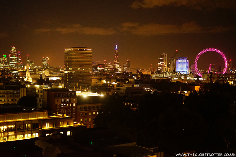 London night skyline from The Cavendish London