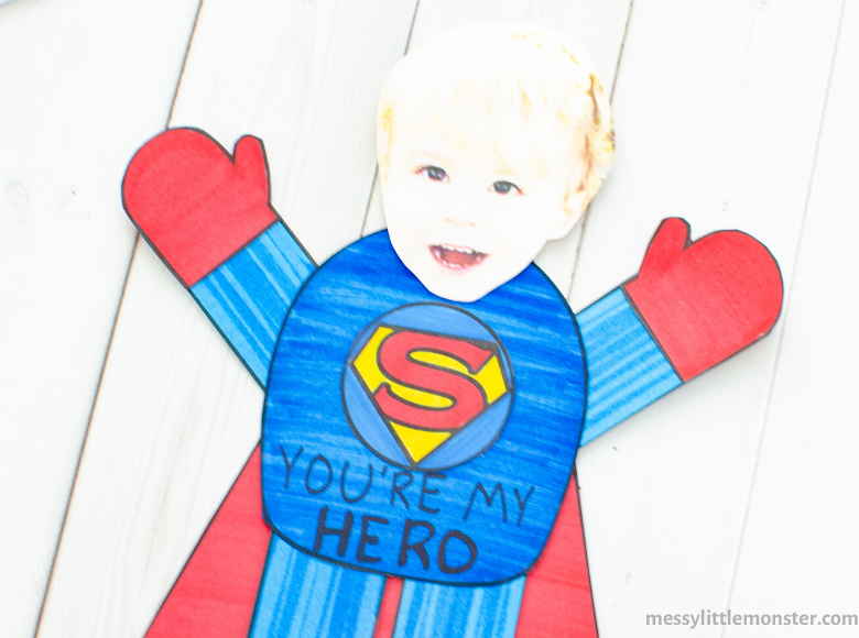 superman craft and template
