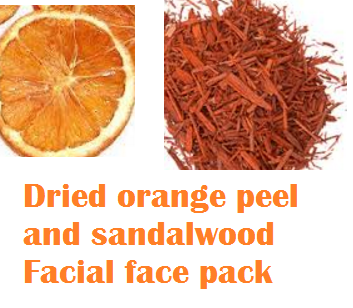 Dried orange peel and sandalwood Facial face pack