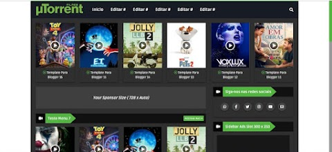 UTorrent Blogger Template Responsive