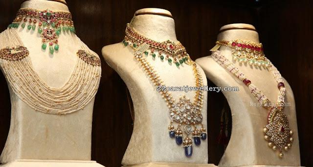 Pachi Work Kundan Latest Necklaces