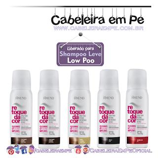 Spray Para Retoque Instantâneo Da Raiz Retoque Da Cor - Amend (5 cores Liberadas para Low Poo)