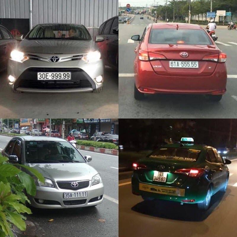 Loạt xe Toyota Vios biển số ngũ quý từng gây sốt