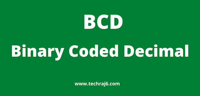 BCD full form, what is the full form of BCD