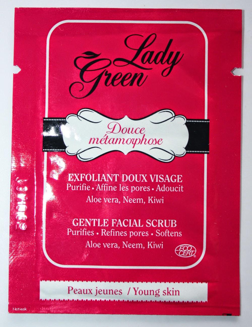 Marque bio pour les peaux jeunes Douce métamorphose de Lady Green