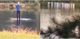 Kanye West, Pastor Joel Osteen and the Sunday Service Crew walk on water (Video)