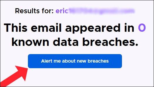 """خيار """"تنبيهي بشأن الاختراقات الجديدة"""" في Firefox Monitor."""