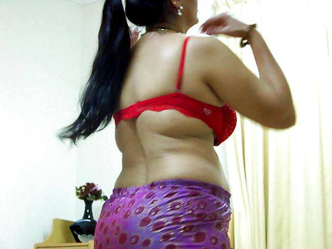 Hot Desi Aunties Half Dress Photos  South Indian -2170