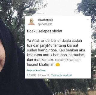 Rajin sholat tapi wanita Beragama islam itu tidak berhijab