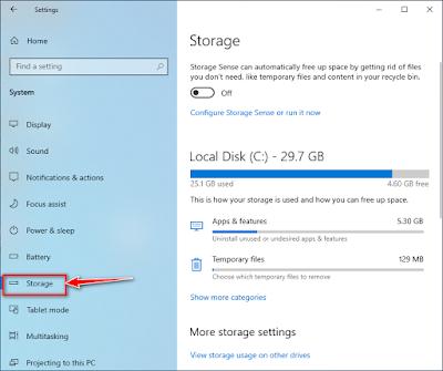حذف الملفات المؤقتة تلقائيًا على نظام التشغيل ويندوز 10