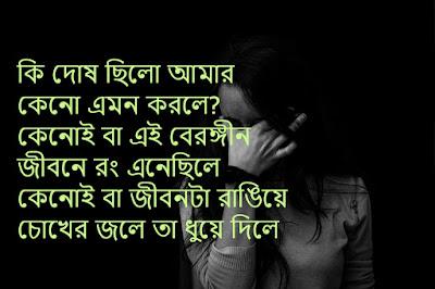 Best Bengali sad shayari photo Sms 2019 - StatusMessage in
