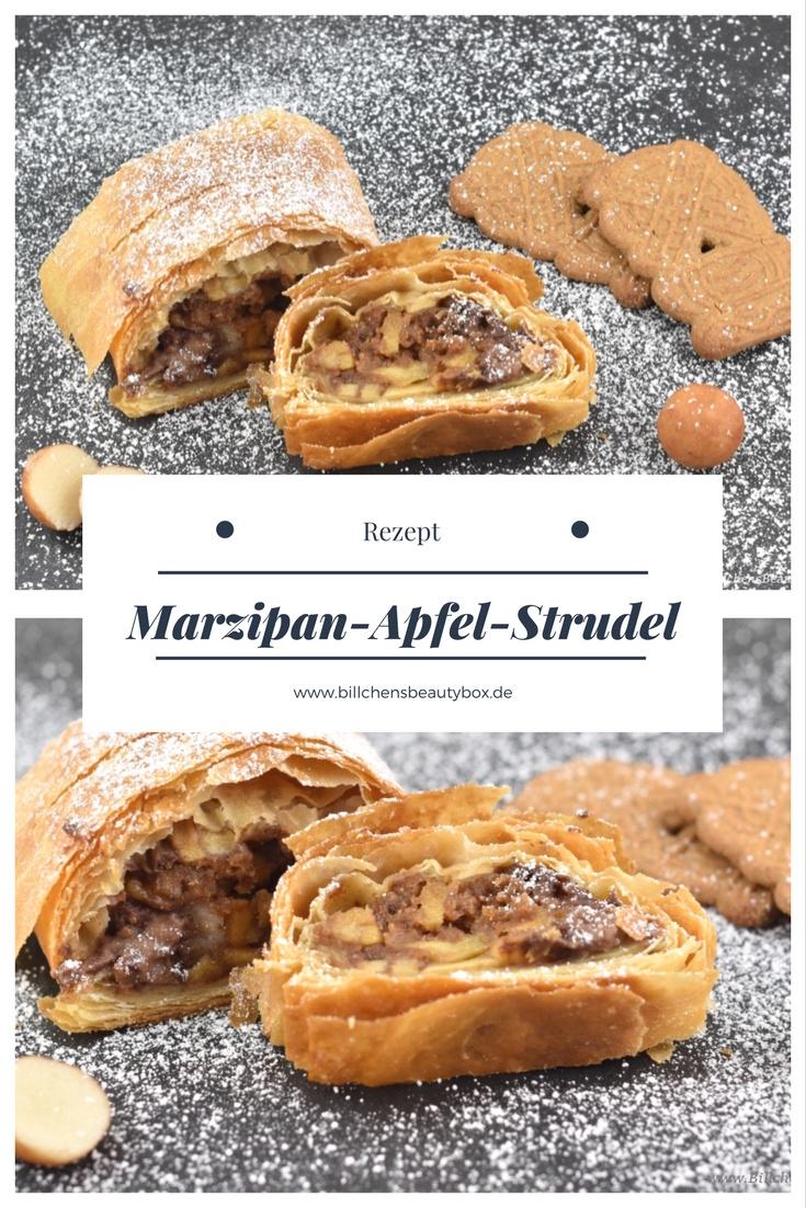 Einfaches Rezept für Marzipan Apfel Strudel - Verwertung von Weihnachtssüßigkeiten