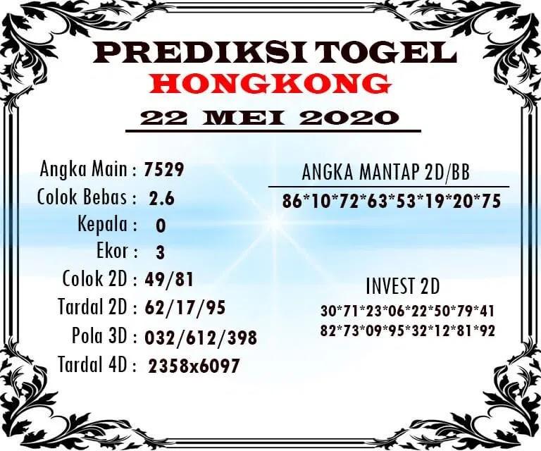Prediksi HK Malam Ini 22 Mei 2020 - Prediksi Togel JP