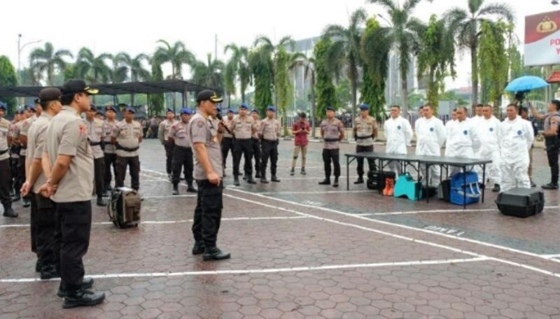 Polda Riau Siapkan 50 Personil Terlatih Tangani Virus COVID-19