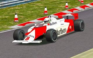 Andrea De Cesaris at the wheel of the Marlboro  McClaren he drove in his first full F1 season