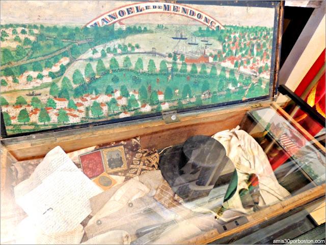 Caja de Mar en el Azorean Whaleman Gallery del Museo de las Ballenas de New Bedford