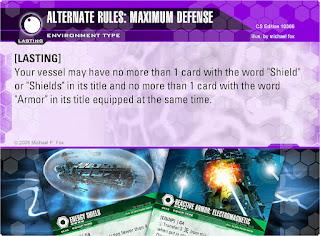 Dog Fight: Starship Edition Alternate Rules: Maximum Defense