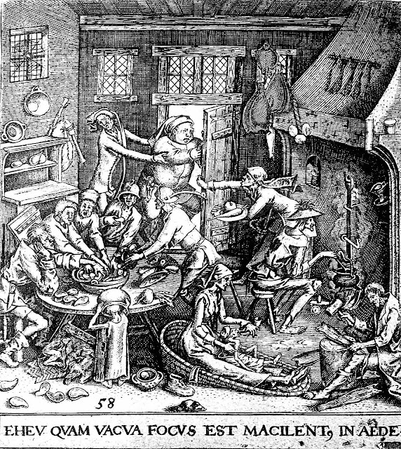 an illustration of a 1596 hotel with low standards