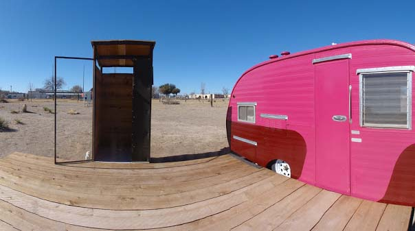 The nomadic style of hotel, El Cosmico at Marfa, Texas, USA, consists of rooms in stylish tents, yurts, Sioux style tepees etc.  It is a campground and hotel for wanderers and adventurers having a fancy jerry-built of substitute residence and cool vintage.