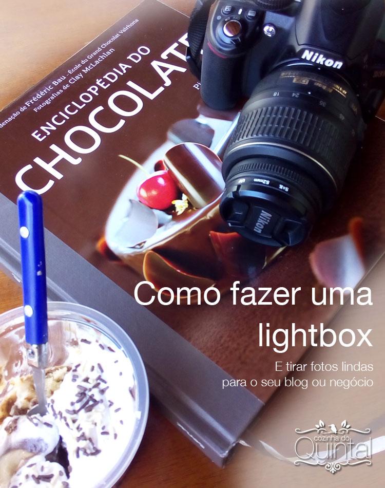 Como fotografar usando uma lightbox feita por você