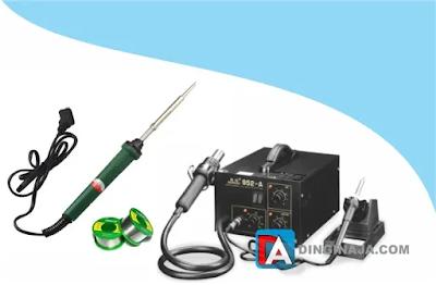 cara solder yang benar