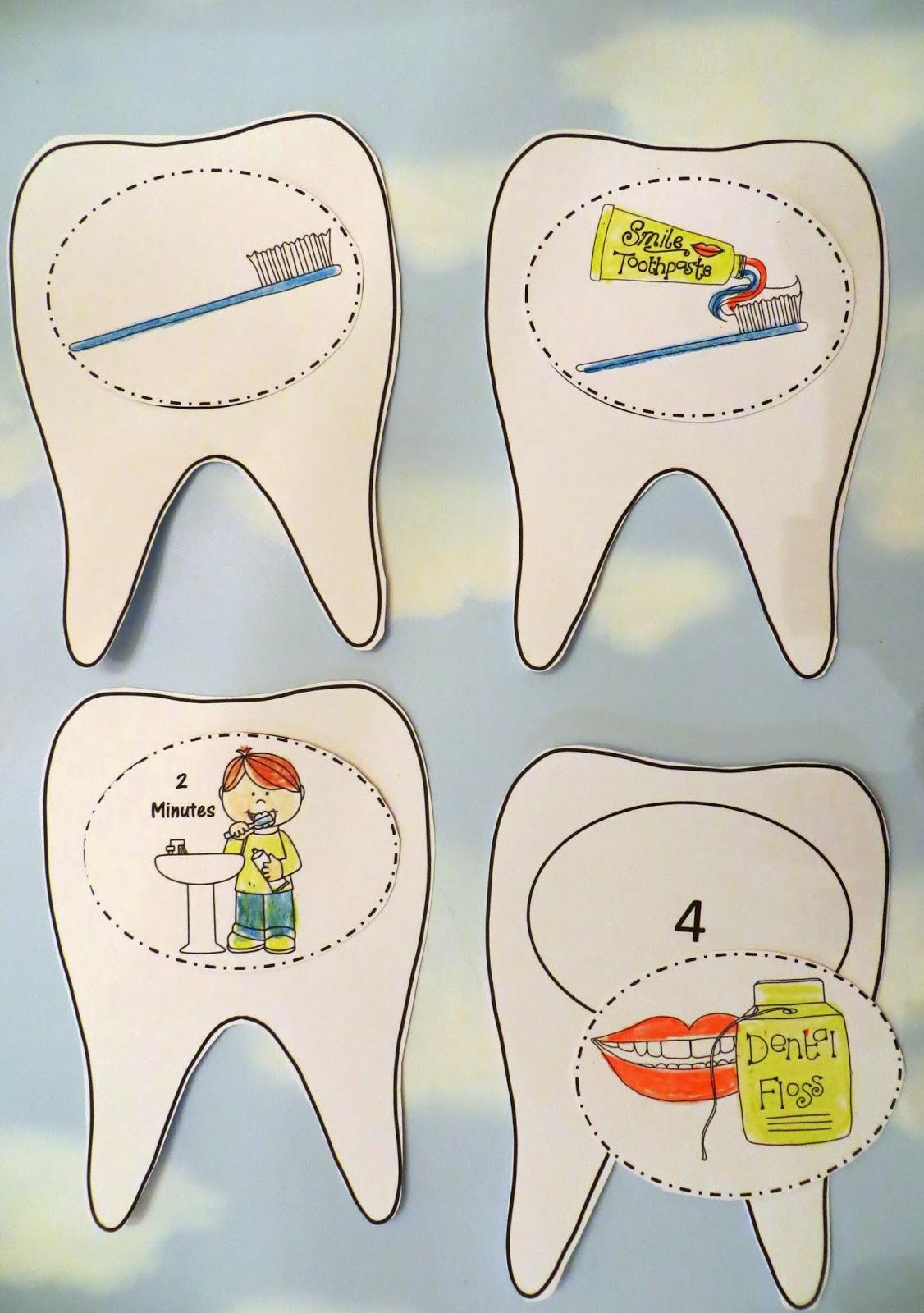 Sweet Tea Classroom Dental Health Craft A 3d Tooth