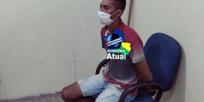 """PM """"estoura"""" boca de fumo  e prende traficante em Ji-Paraná"""