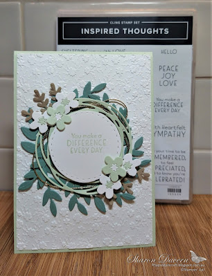 Rhapsody in craft, Soft Sea Foam, Inspired Thoughts, Friendship Card, Ornate Floral Embossing Folder, Painted Label Dies, Cherry Blossoms Dies, Forever Flourishing Dies, Annual Catalogue 2021-22, Stampin' Up!, #colourcreationsshowcase