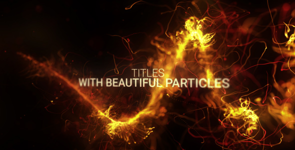 590x300 Abstract Particles Titles Trailer Videohive - Free Download After Effects Templates download