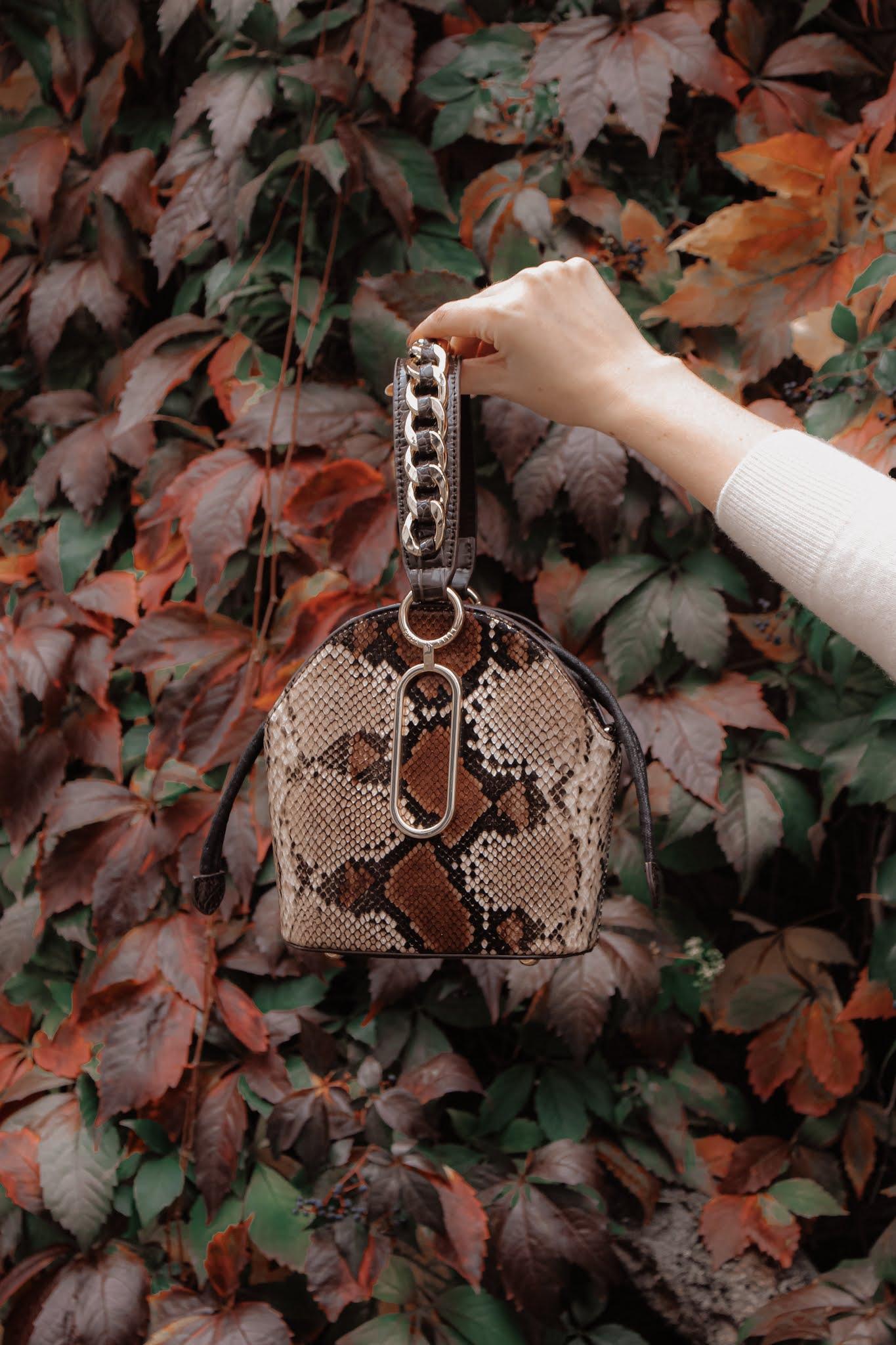 Moda in Pelle Lexibag Snakeskin Bag