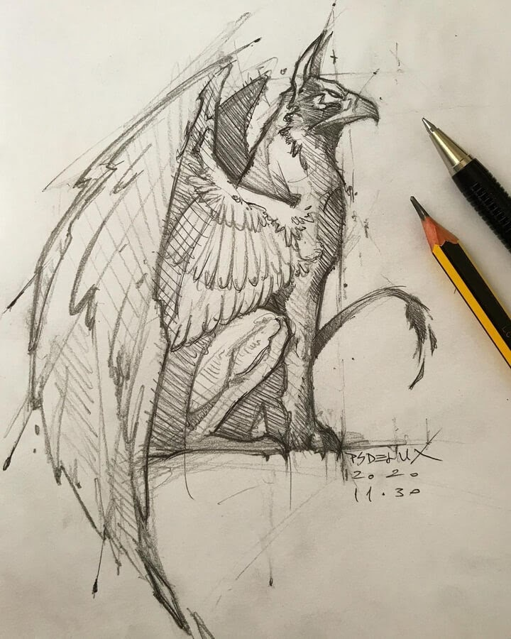 10-Griffin-Mythical-Creature-Psdelux-www-designstack-co