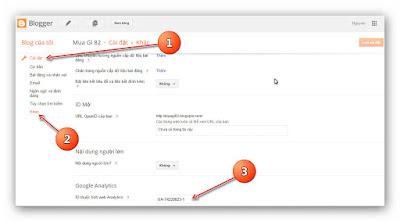 Hướng dẫn thêm Google Analytics cho blogspot (a6)