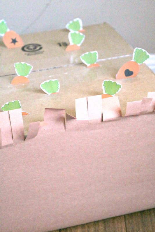 carrot shape matching printable activity