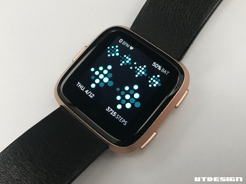 fitbit versa how to change clock