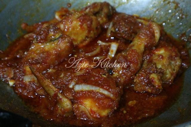 Ayam Masak Merah Sedap dan Mudah Azie Kitchen
