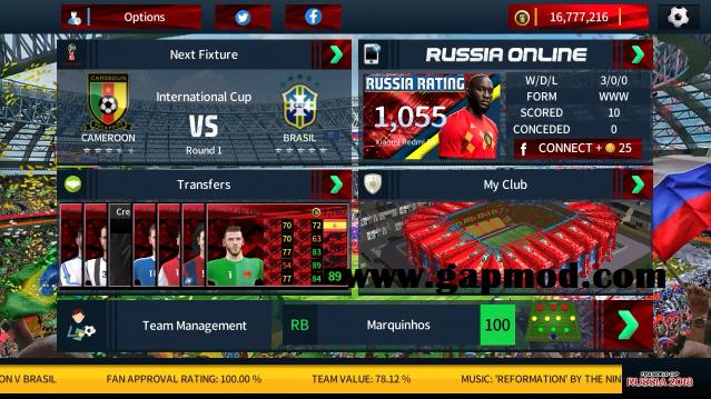 DLS 19 Mod FIFA World Cup Russia Apk Data Obb - Gapmod