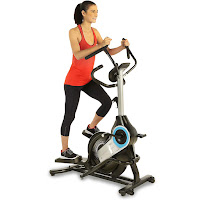"ProGear 9900 HIIT Bluetooth Smart Cloud Fitness Crossover Stepper Elliptical Trainer, with 29 lb cast iron flywheel, front drive belt system, 8 magnetic resistance levels, 8"" vertical & 9"" horizontal elliptical stepping path"