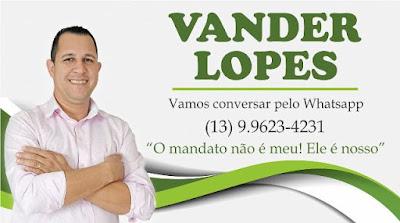 Vereador Vander Lopes disponibiliza whatsapp para receber demandas da população