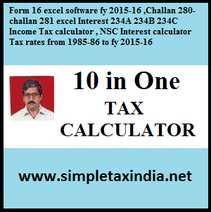 Form 16 excel software fy 2015-16 ,Challan 280-challan 281