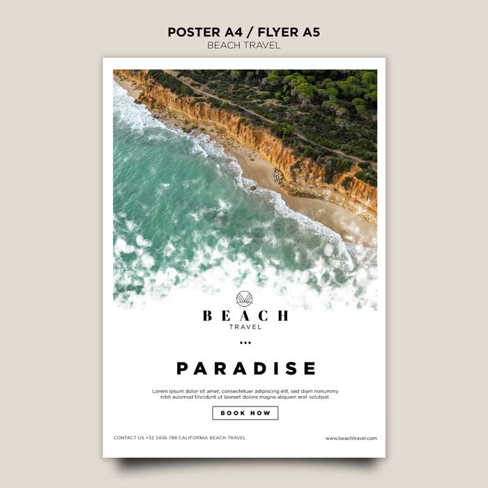 Summertime Ocean Waves Poster Template